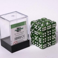Blackfire 12mm D6 36 Dice Set Marbled Jade Green