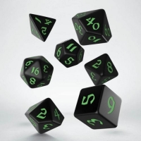 Q WORKSHOP Набор кубиков Classic Runic Black & green Dice Set (7)