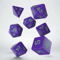 Q WORKSHOP Набор кубиков Classic Runic Purple & green Dice Set (7)