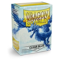 Протекторы Dragon Shield Matte Clear Blue (100)