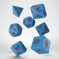 Q WORKSHOP Набор кубиков Classic Runic Blue & red Dice Set (7)
