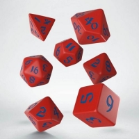 Q WORKSHOP Набор кубиков Classic Runic Red & blue Dice Set (7)